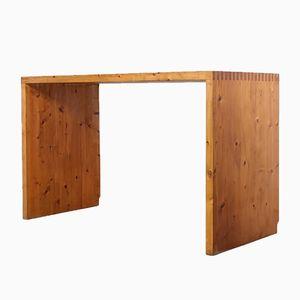Mid-Century Solid Pine Desk by Ate Van Apeldoorn for Houtwerk Hattem