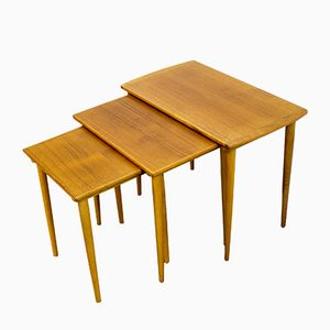 Tables Gigognes Scandinaves, 1960s, Set de 3