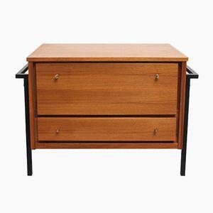 Small Teak & Metal Bar Cabinet, 1960s