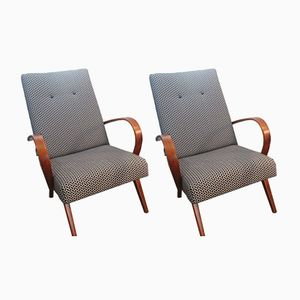 Czech Armchairs, 1950s, Set of 2