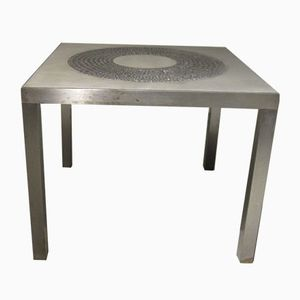 Mid-Century Italian Metal Side Table