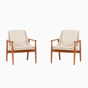 Teak Lounge Chairs by Arne Vodder for Slagelse Møbelværk, 1950s, Set of 2