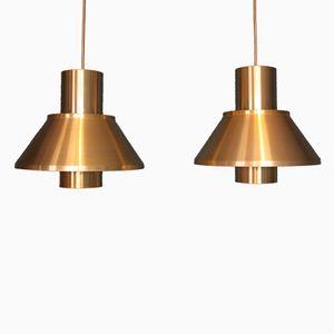 Mid-Century Modell Life Messing Lampen von Jo Hammerborg für Fog & Morup, 2er Set