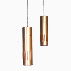 Modell Trombone Lampen von Jo Hammerborg für Fog & Morup, 1960er, 2er Set