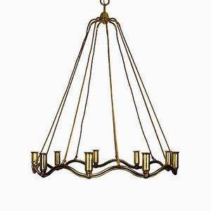 Große Wellenförmige Deckenlampe, 1930er