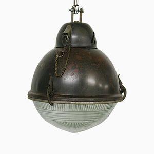 Lampe Balle Industrielle avec Verre, 1960s