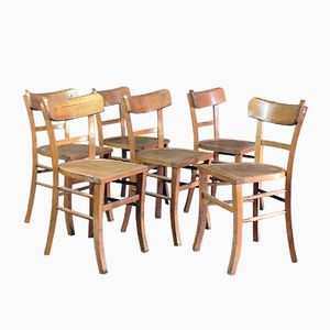 Bistro Chairs, 1940s, Set of 6