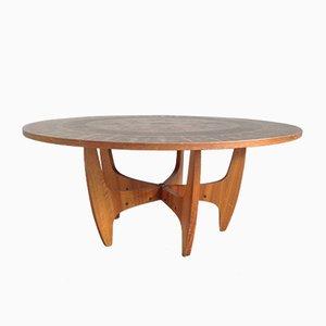 Table Basse Ronde en Cuivre, 1960s