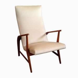 Vintage Italian Sculptural Armchair, 1950s