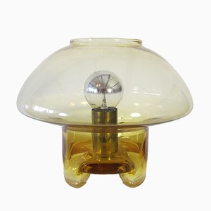 Lampe de Table Vintage Mushroom en Verre de Raak, 1970s
