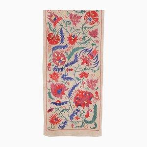 Usbekischer Vintage Seiden Wandteppich