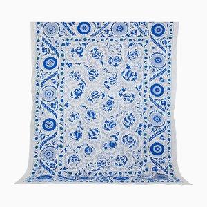 Large Vintage Blue Uzbek Tapestry