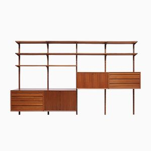 Mid-Century Danish Walnut Royal System Wall Unit by Poul Cadovius for Cado