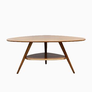 Table Basse Triangulaire Vintage par Cees Braakman pour Pastoe