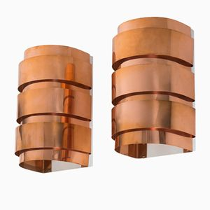 Mid-Century Copper Wall Lights from Hans-Agne Jakobsson, Set of 2
