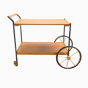 German Serving Cart with Large Wheels, 1960s
