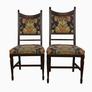 Antique Art Nouveau Dining Chairs, Set of 2