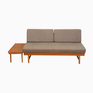 Mid-Century Swedish Daybed with Teak Side Table
