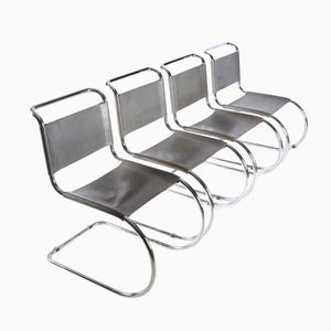 Vintage S 533 MR Cantilever Chairs by Ludwig Mies Van Der Rohe for Thonet, Set of 4