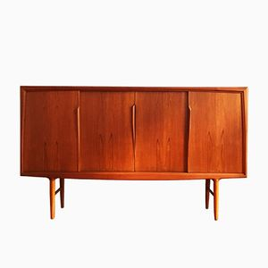 Vintage Teak Highboard by Gunni Omann for ACO