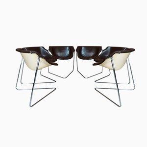 Pussycat Stühle von Kwok Hoi Chan für Steiner, 1960er, 6er Set