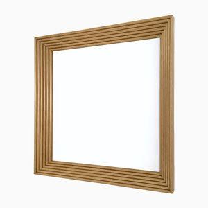 Italian Mirror with Walnut Fluted Frame, 1960s