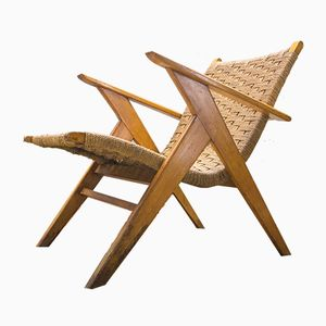 Mid-Century Jute Z Chair