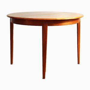 Mid-Century Extending Round Teak Dining Table