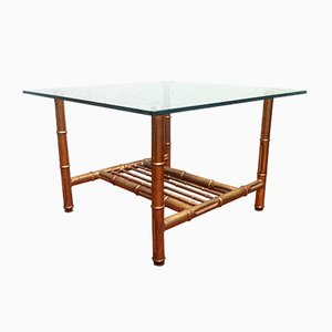Mid-Century Faux Bamboo Coffee Table, 1950s