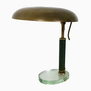 Lampe de Table en Laiton, Italie, 1950s