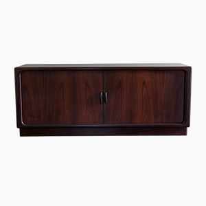 Danish Rosewood Sideboard with Tambour Doors, 1960s