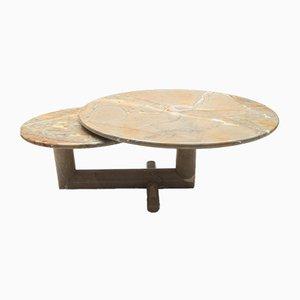 Double Table Vintage Pivotante en Marbre