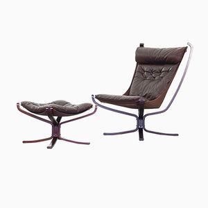 Falcon Chair Vintage par Sigurd Ressell pour Vatne Møbler