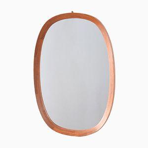 Danish Mirror with Teak Mosaic Dovetailed Frame