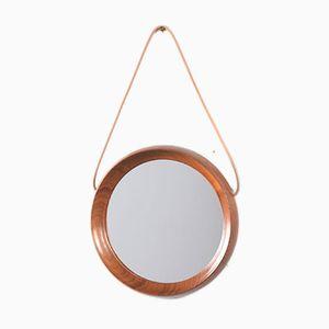Vintage Danish Small Circular Mirror