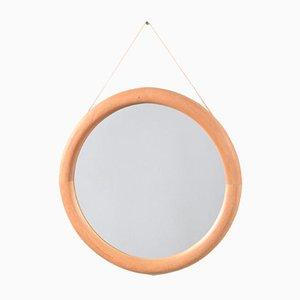 Mid-Century Maple Mirror