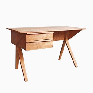 EB02 Plywood Desk by Cees Braakman for Pastoe, 1952