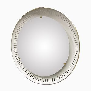 Vintage Back Light Mirror by Ernest Igl for Hillebrand Lighting