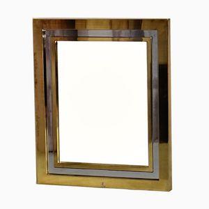 Vintage Gilded Brass & Chrome Mirror