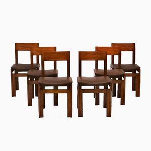 Vintage Belgian Rosewood Chairs from Van den Berghe Pauvers, Set of 6