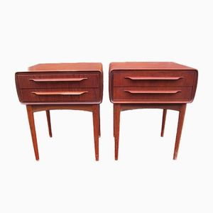 Tall Bed Stands by Johannes Andersen for CFC Silkeborg, Set of 2, 1960s