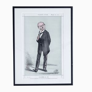 Affiche He refused the Woolsack, and voted against the Disestablishment of the Irish Church Vanity Fair, 1872