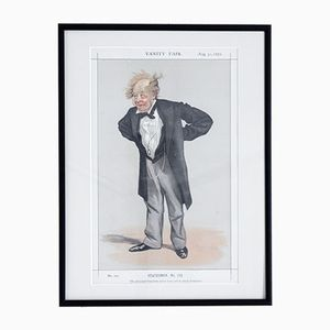 He Advocated Free-Trade Before it was Safe to Attack Protection Vanity Fair Druck, 1872