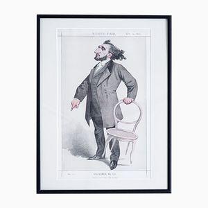 He Devoured France with Activity Vanity Fair Druck, 1872
