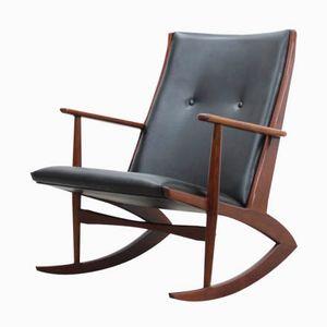 Mid-Century Model 97 Atomic Rocking Chair by Holger Georg Jensen for Kubus