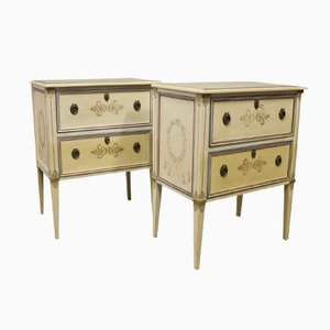Painted Wood Chest of Drawers, 1960s, Set of 2