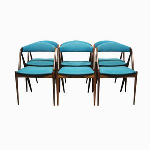 Model 31 Dining Room Chairs by Kai Kristiansen and Schou Andersen, 1960s, Set of 6