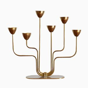 Brass Candelabra by Gunnar Ander for Ystad Metall, 1950s