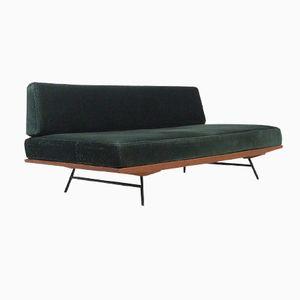 Mid-Century Modular Teak and Metal Sofa, 1960s