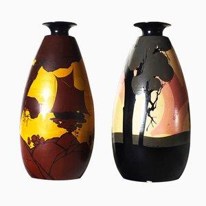 Vintage Vasen von Louis Giraud für Vallauris, 2er Set